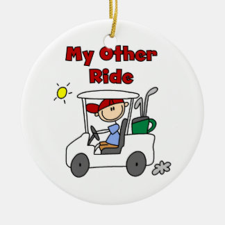 Golf My Other Ride Ceramic Ornament