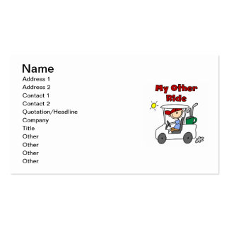 Golf My Other Ride Double-Sided Standard Business Cards (Pack Of 100)