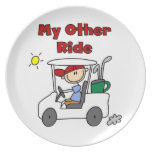 Golf My Other Ride Plate