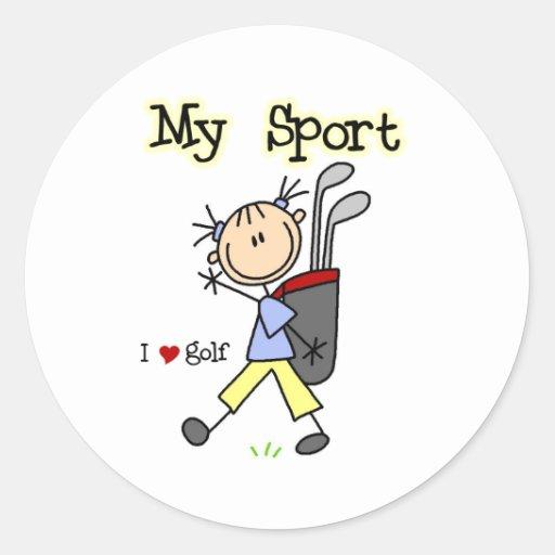 Golf My Sport  Classic Round Sticker