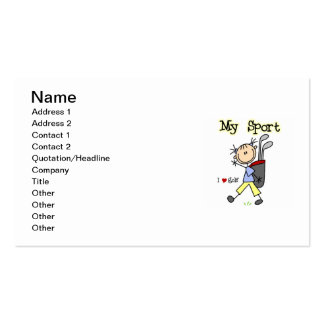 Golf My Sport Double-Sided Standard Business Cards (Pack Of 100)