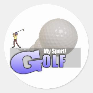 GOLF My Sport GIFTS & MERCHANDISE Classic Round Sticker