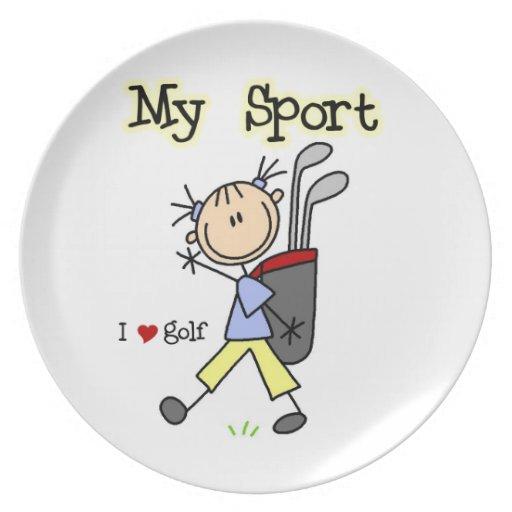 Golf My Sport Plate