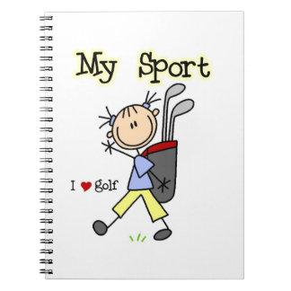 Golf My Sport Spiral Note Book