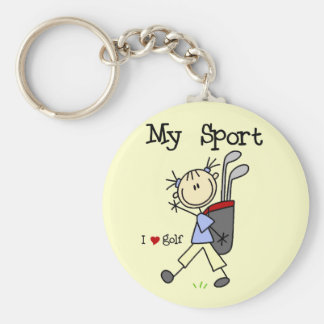 Golf My Sport T-shirts and Gifts Basic Round Button Keychain