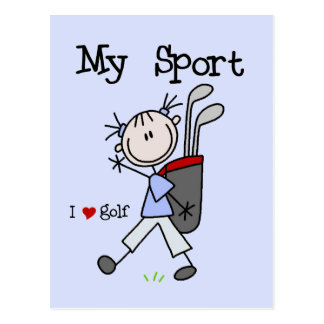 Golf My Sport T-shirts and Gifts Postcard