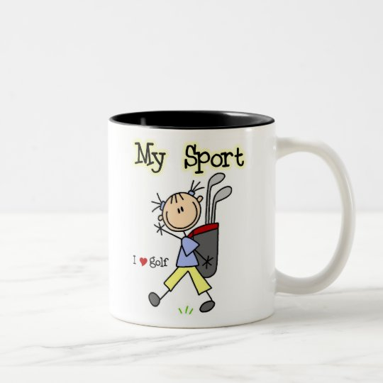 Golf My Sport Two-Tone Coffee Mug