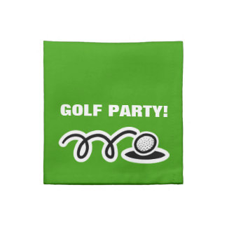 Golf napkin set for golfer's themed cocktail party
