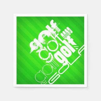 Golf; Neon Green Stripes. Napkin