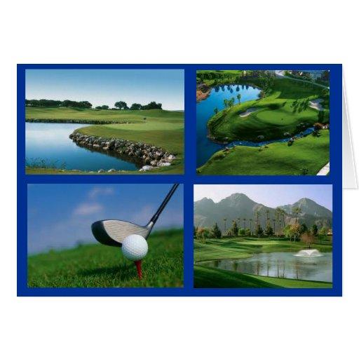 golf notecard