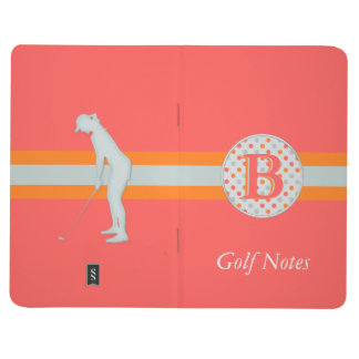 Golf Notes and Polka dots for Her with Monogram Journal