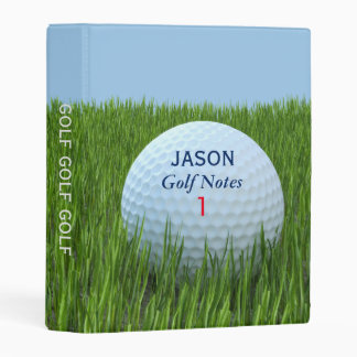Golf Notes Mini Binder for Golfers Personalized