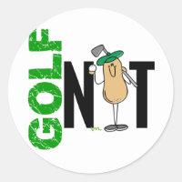Golf Nut 1 Classic Round Sticker