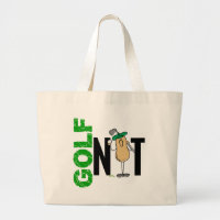 Golf Nut 1 Large Tote Bag