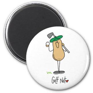 Golf Nut 2 Inch Round Magnet