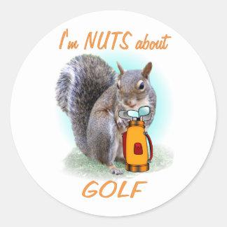 Golf Nut Classic Round Sticker
