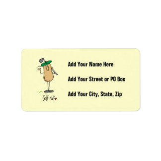 Golf Nut T-shirts and Gifts Address Label