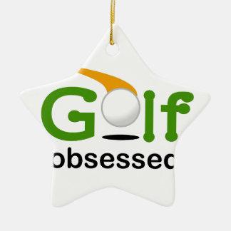 Golf Obsessed Ceramic Ornament
