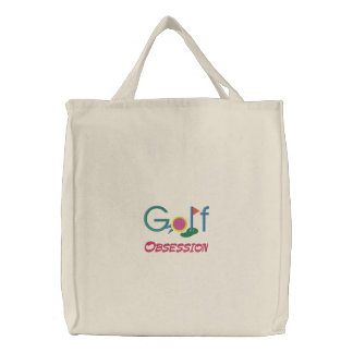 Golf Obsession Embroidered Tote Bag