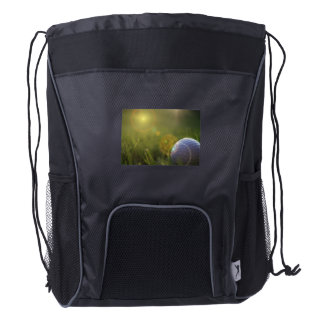 Golf on a Sunny Day Drawstring Backpack