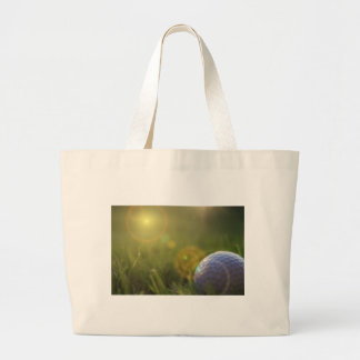 Golf on a Sunny Day Large Tote Bag