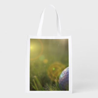 Golf on a Sunny Day Reusable Grocery Bag