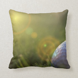 Golf on a Sunny Day Throw Pillow