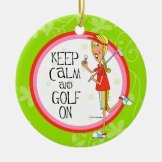 Golf On Circle Ornament