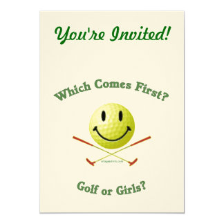 Golf or Girls 5x7 Paper Invitation Card