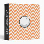 Golf; Orange and White Chevron Vinyl Binders