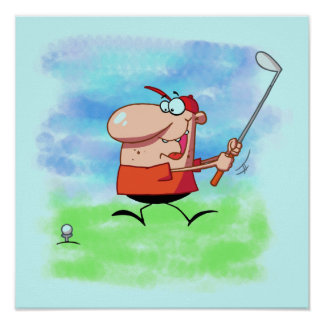 Golf Outing T-shirts and Gifts Poster
