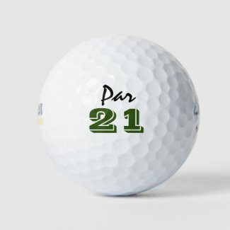 Golf par 21 for golfer 21st birthday golf balls