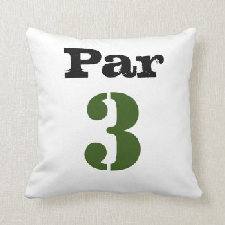 Golf Par 3rd tee three golfer Throw Pillow
