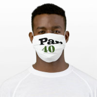 Golf Par 40 birthday Anniversary Cloth Face Mask