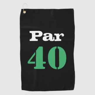 Golf par 40 forty birthday golfer with number golf towel