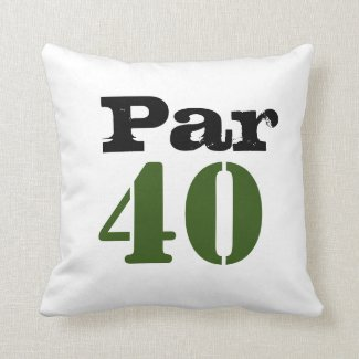 Golf par 40 forty birthday golfer with number throw pillow