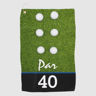 Golf Par 40th birthday party golfer birthday Golf Towel