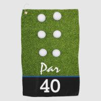 Golf Par 40th birthday party golfer birthday Golf Towel