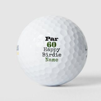 Golf Par 60th Birthday for Golfer Happy Birdie Golf Balls