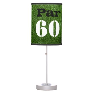 Golf Par 60th sixty years olds golfer birthday Table Lamp