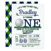 Golf PAR-TEE 1st Birthday Invitation