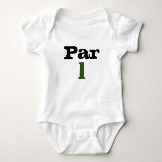 Golf Par tee one year old for baby golfer birthday