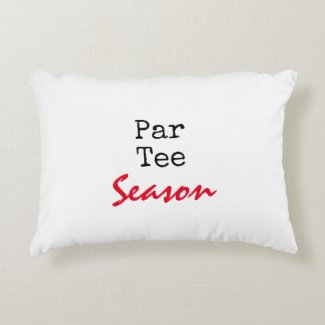 Golf Par tee season on white background Accent Pillow