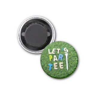 Golf Par Tee with tee on green golfer party Magnet