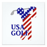Golf para hombre de los E.E.U.U. - golfista de Invitación 13,3 Cm X 13,3cm