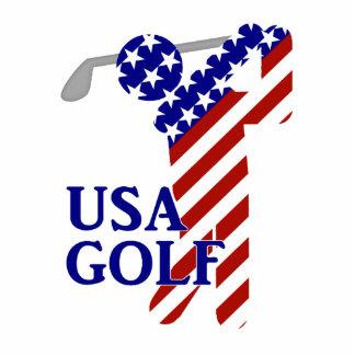 Golf para hombre de los E E U U - golfista de sex Esculturas Fotográficas