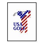 Golf para hombre de los E.E.U.U. - golfista de Postal