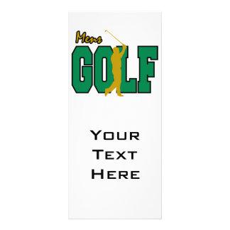 golf para hombre diseño de tarjeta publicitaria