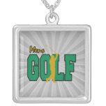 golf para hombre pendiente personalizado