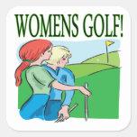 Golf para mujer calcomanias cuadradas